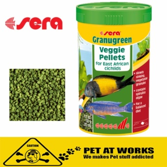 Sera GranuGreen Fish Food Granules (500ml) For Pets Fish Food and for Smaller herbivorous cichlids and other cichlids