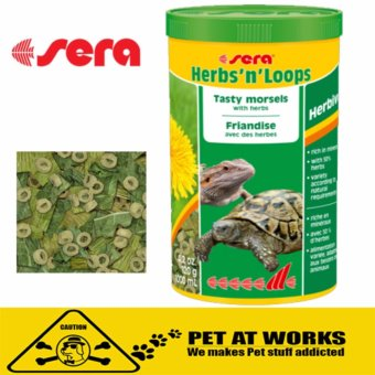 Sera Herb and Loops TurtleFood (1000ml) For Pets Turtle Foodtortoises and other herbivorous reptiles. Price Philippines