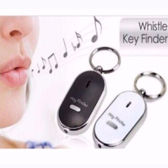 Set of 2 LED Anti-Lost Key Finder Keychain Whistle BeepSound(Assorted Color)