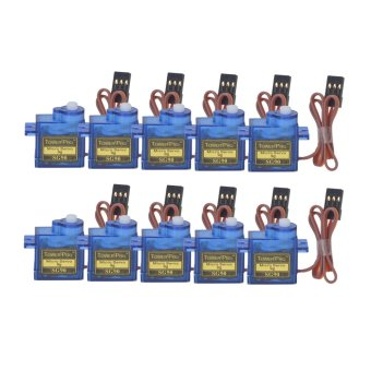 SG90 Universal 9g Servo Motors with Accessories for R/C Robot / Helicopter (Blue)