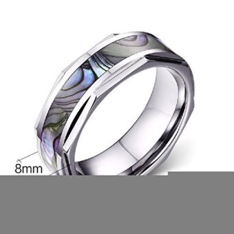 Shell Color Titanium Steel Men Ring- INTL - picture 2