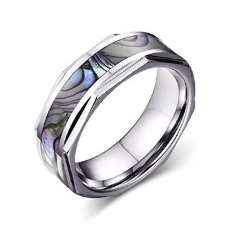 Shell Color Titanium Steel Men Ring- INTL