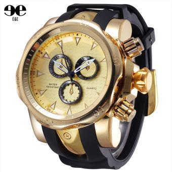 SHHORS 80085 Fashion Men Silicone Strap Quartz Sports Watch