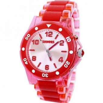 SHHORS Dial Type Waterproof Flash Watch ( red) Price Philippines