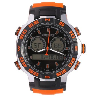 Shhors Men's Orange Silicone Strap Sports Watch SH-80071