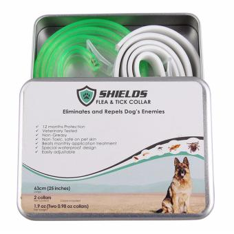 Shields Flea and Tick Collar for Dogs 63 cm (large dogs above 8 kg or 18 lbs) - 2 pcs