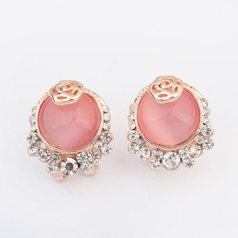 SHININGSTAR Shishang gem luxury stud Korean-style earrings