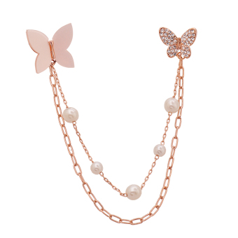 Shishang Butterfly female versatile shirt brooch collar pin