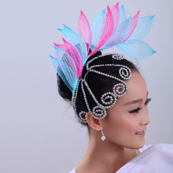 Si Yunge costumes sequin flower floral headdress