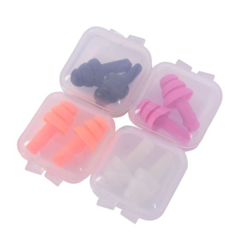 Silicone Ear Plugs Anti Noise Snore Earplugs 1 Pair Comfortable For Study Sleep - intl