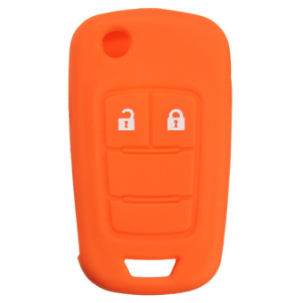 Silicone Key Case Holder Fob Protector Cover Housing for VAUXHALL / OPEL Orange - picture 2