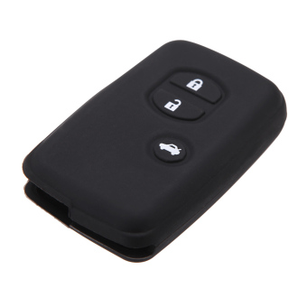 Silicone Skin Car Remote Fob Shell Key Holder Case Cover for ToyotaLand Cruiser Prado(2010) 3 Buttons. - 2