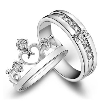 Silver Adjustable Couple Rings Jewelry Affectionate Lovers Rings E007 - 4