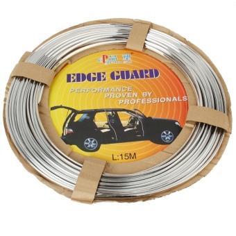 Silver Car Auto Truck Door Edge Guard Trim Molding Protector Strip, Length: 15m - 3