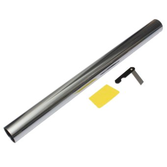 Silver car mirror window tint 3m x 50cm 30 lvt auto glass for 18 percent window tint