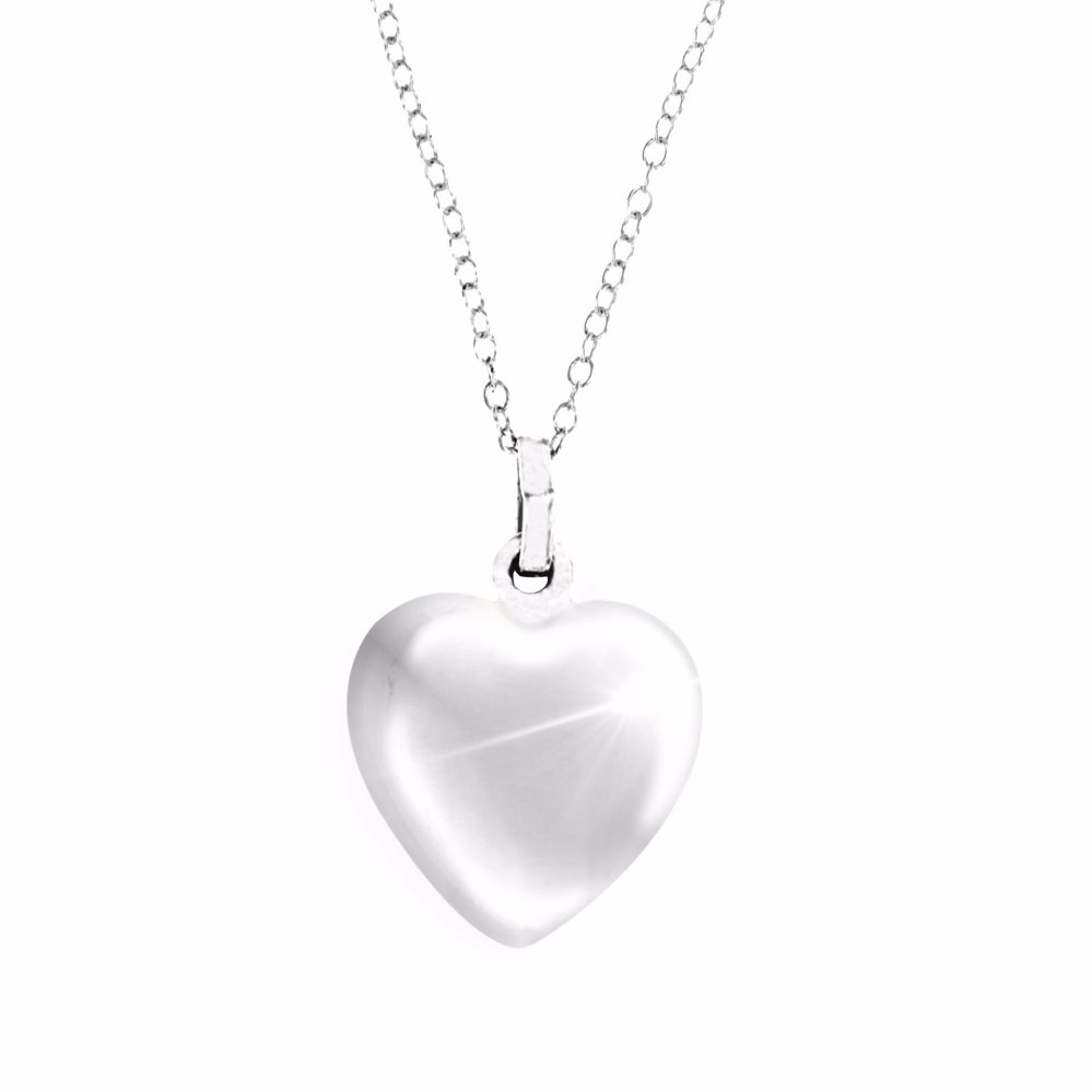 Silverworks big puff heart pendant with necklace silver lazada ph aloadofball Images