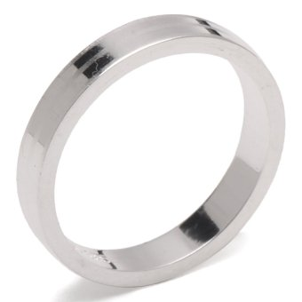 Silverworks R54704 Sandblasted Band Ring with Polished Ring (Silver)