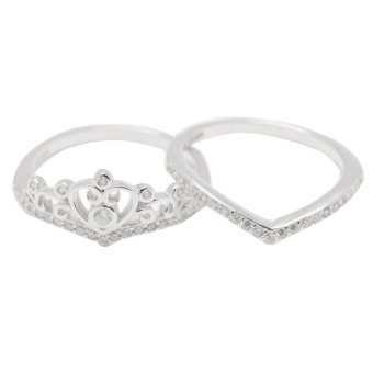 Silverworks R6204 Crown Deisgn Ring (Silver)