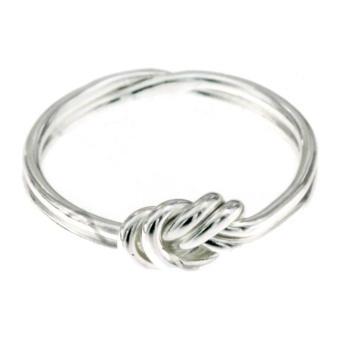 Silverworks R6234 Double Knot Design Ring