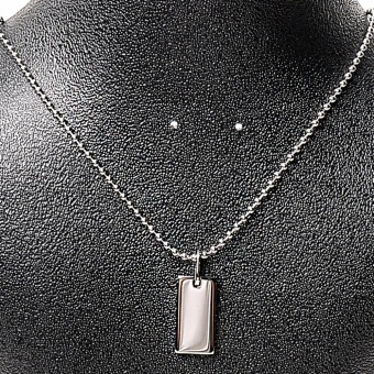 Silverworks Stainless Steel X1860 Dogtag Necklace with Free Engraving Voucher