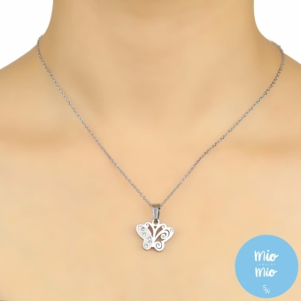 Silverworks X3251 Butterfly Pendant Necklace with Earrings - 3