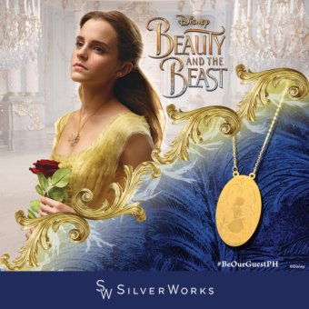 Silverworks X3525 18K Gold Plated Beauty and the Beast Belle Character Design Necklace Price Philippines