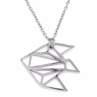 Silverworks X3653 Origami Fish Design Necklace