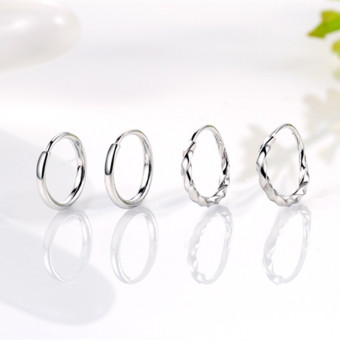 Simple elegant small ear clip sterling silver earrings