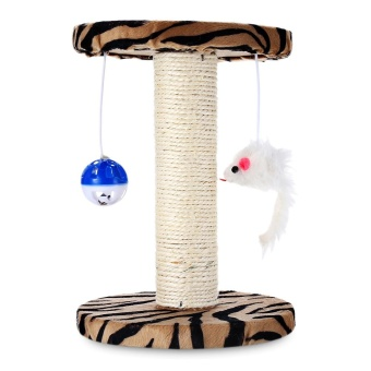 Single Platform Kitten Small Cat Tree Tower Playground With Scratching Posts Hanging Toy (Zebra Stripes) - intl - 2