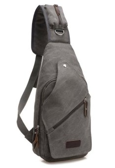 Single Strap Men's Canvas Sling Messenger Bag (Gray) Price Philippines