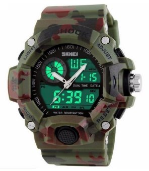SKMEI 1029 S-Shock Military Sports Watch (Camo Green) Price Philippines