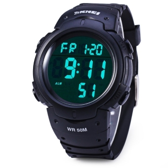 Skmei 1068 Military Army LED Watch Water Resistant (Black) (Intl) Price Philippines