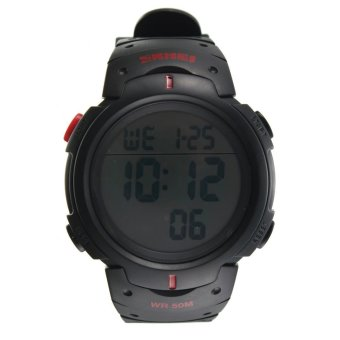 SKMEI 1068 Unisex Waterproof LED Light Rubber Digital Wrist Watch Price Philippines