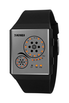 Skmei 1073 Sports Watch With LED (Black) - picture 2