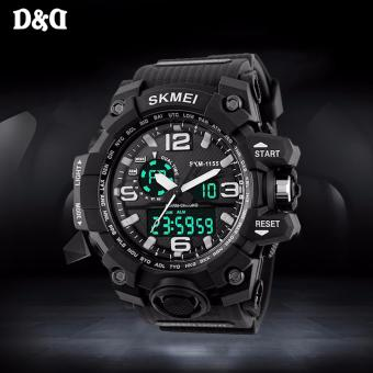 SKMEI 1155 Men's S SHOCK Military LED Black Rubber Strap Sports Watch