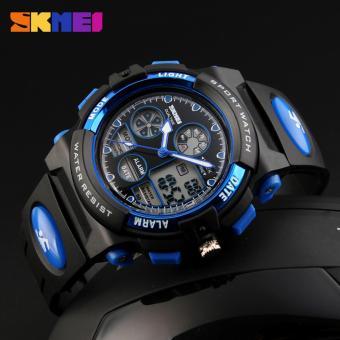 SKMEI 1163 Digital Men's Watch Outdoor Sport Watches Chronograph Fashion Clock PU Band Waterproof Wristwatches for Men - 3