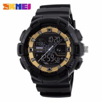 Skmei 1189 SKMEI Digital Watch Men Multifunction Waterproof LED Military Sports Watches Dual Time Analog Digital Casual Men Wristwatches Price Philippines