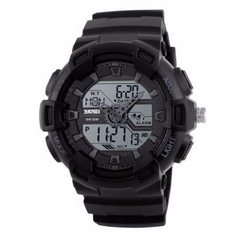 Skmei 1189 SKMEI Digital Watch Men Multifunction Waterproof LED Military Sports Watches Dual Time Analog Digital Casual Men Wristwatches