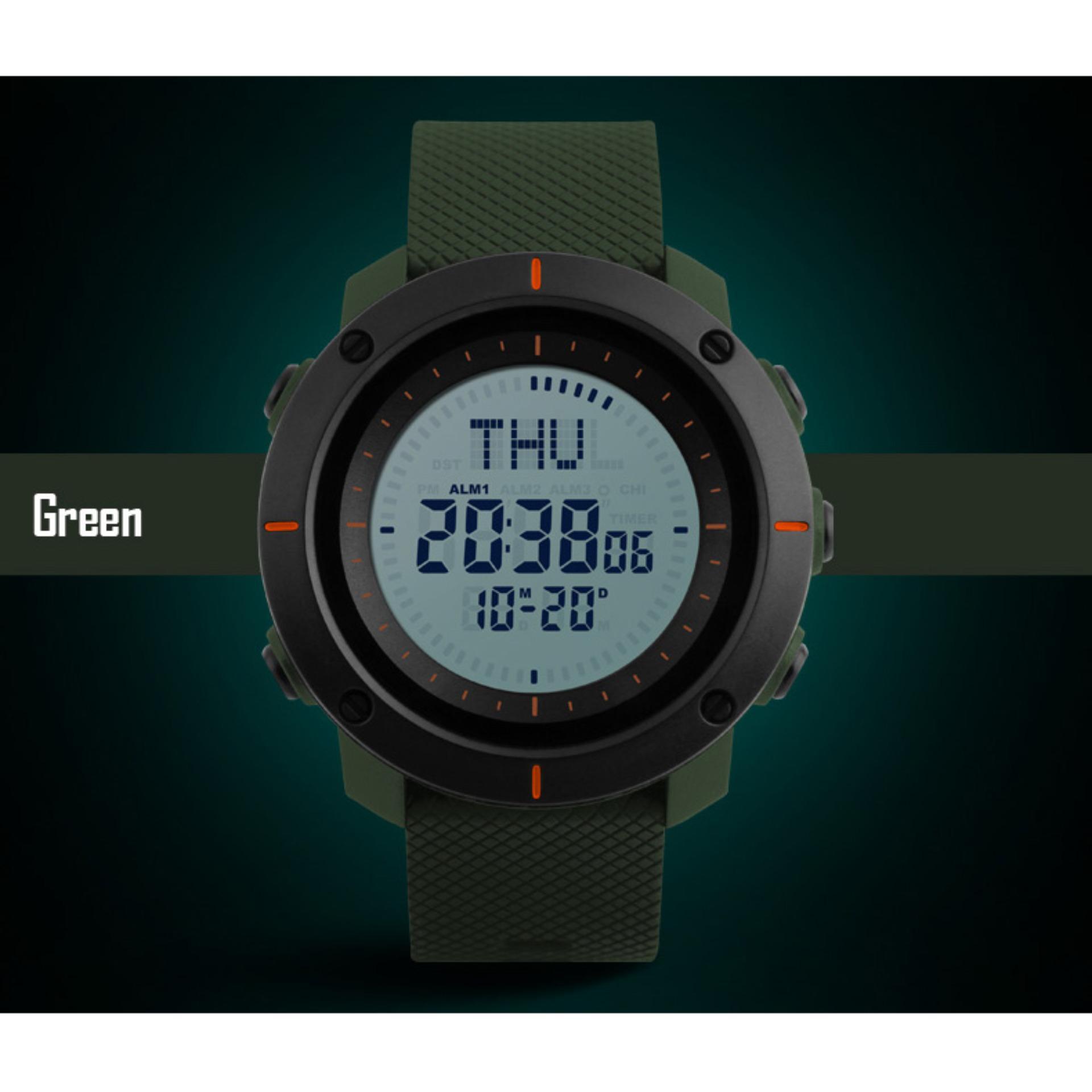 ... SKMEI 1216 Men's Countdown Sports Watches Digital LED Back Light Man Quartz Watch Military Alarm Waterproof