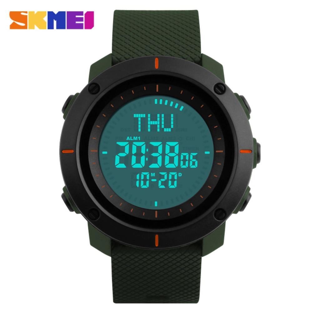 SKMEI 1216 Men's Countdown Sports Watches Digital LED Back Light Man Quartz Watch Military Alarm Waterproof ...