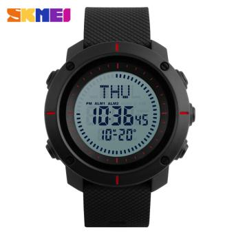 SKMEI 1216 Men's Countdown Sports Watches Digital LED Back Light Man Quartz Watch Military Alarm Waterproof Clock Fashion Outdoor Wristwatch - 2
