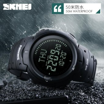 SKMEI 1231 SKMEI 1231 Outdoor Man Sports Compass Watches Hiking Digital LED Electronic Watch - Black Price Philippines