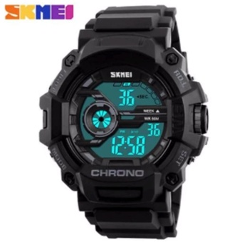SKMEI 1233 Men Sports Digital Quartz Watch Water Resistant (Black)