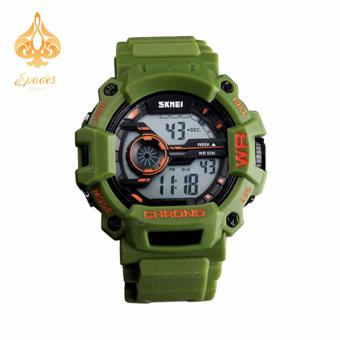SKMEI 1233 Men Sports Digital Quartz Watch Water Resistant (Green)