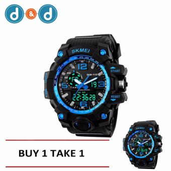 SKMEI 1515 Casual Men Digital Quartz Sports Watch (Blue) BUY 1 TAKE 1