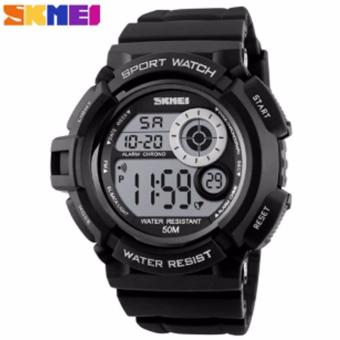 SKMEI Brand Men Sports Watches Digital Clock LED Black PU Strap Military Watch Waterproof Outdoor Casual Wristwatches 1222