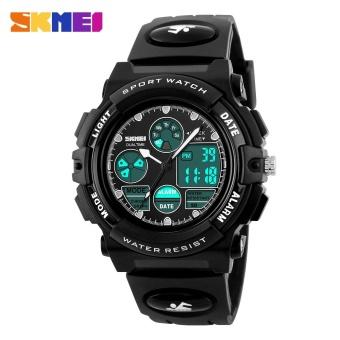 SKMEI Kids Sports Military Waterproof Wristwatches Dual Display LED Digital Quartz Watches 1163 - Blue - intl - 4