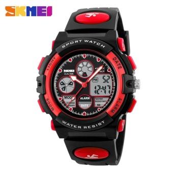 SKMEI Kids Sports Military Waterproof Wristwatches Dual Display LED Digital Quartz Watches 1163 - Blue - intl - 2
