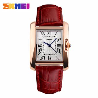Skmei Leather Strap Women's Watch 1085 (Red) Price Philippines