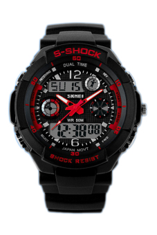 Skmei Men Waterproof Electronics Multi-function Watch 0931 Red